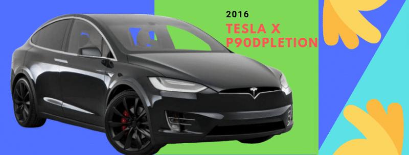 2016 Tesla X P90D depletion